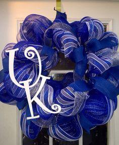 Kentucky Wildcats Wreath UK Wreath Sports Wreath by KyGirlShop, $60.00