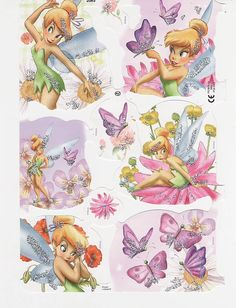 Vintage Die Cut Scrap Tinker Bell Disney MLP (Image1)
