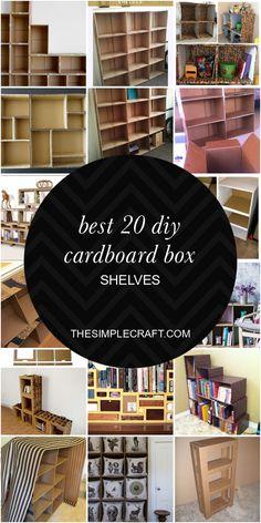 Cardboard Box Storage, Cardboard Organizer, Diy Cardboard Furniture, Diy Storage Boxes, Cardboard Box Crafts, Diy With Cardboard Boxes, Diy Box Organizer, Cardboard Drawers, Diy Crafts Quotes