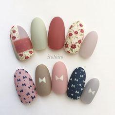 Pin on Nails Pretty Nail Art, Cute Nail Art, Cute Nails, Korean Nail Art, Korean Nails, Japanese Nail Art, Girls Nails, Nail Studio, Cute Nail Designs