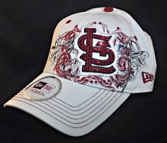 ea991149 St Louis Cardinals Womens White Bling Hat by BabyWantsBling #bling #max  bling #bling