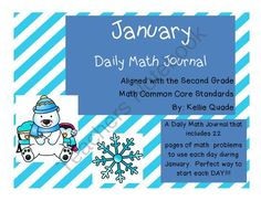 January Math Journal from Quade's Shining Stars on TeachersNotebook.com -  (25 pages)  - This is a great math journal to be used during the month of January. All you need to do is copy one journal per student and you will have a great resource to use on a daily basis. This journal would be perfect for morning seat work time (that is how I pla