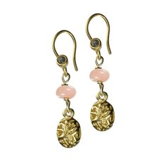 Charmed Spirit Earrings - Pink Opal