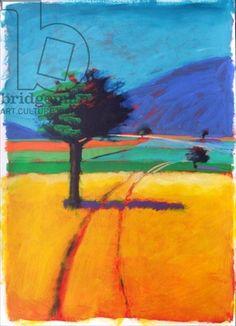 Blue Hill (acrylic on card)