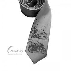 dla niego - krawaty-Motocykle Alexander Mcqueen Scarf, Tie, Retro, Accessories, Ideas, Cravat Tie, Thoughts, Ties, Mid Century