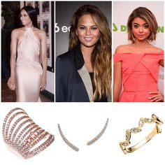 Look Who's Wearing Graziela Gems. Ciara my Rose Couture Wave Ring. Chrissy Teigen wearing my Curve Ear Cuffs in White. Sarah Hyland wearing my Yellow Zig Zag Band. Shop the looks on my website.