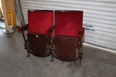 vintage cinema seats in Antiques, Antique Furniture, Chairs | eBay