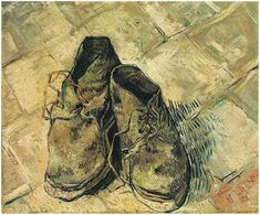 A Pair of Shoes by Vincent van Gogh Painting, Oil on Canvas  Arles: August, 1888