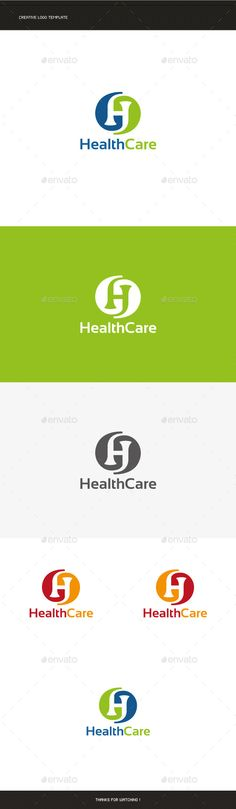 Hospital Care Logo — Letter H | Logos, Logo Templates And Fonts