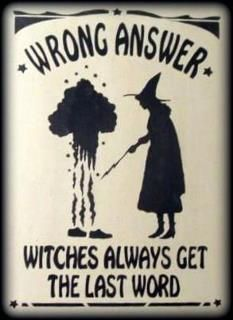 """Lol lol love that magick Wicca Witch Witchcraft: """"Wrong Answer. Always Get the Last Word. Fall Halloween, Halloween Crafts, Halloween Decorations, Pagan Halloween, Halloween Sayings, Halloween Bedroom, Happy Halloween, Halloween Party, Halloween Costumes"""