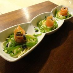 Smoked Salmon pasta with a blue cheese sauce by Chef Robert Spakowski (Quezon City, Philippines).