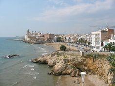 Church Sitges, Beaches, Barcelona, Spain, Travel, Viajes, Sands, Sevilla Spain, Barcelona Spain