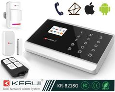 """433MHz Touch Home Alarm System Wireless, Wireless Security Kit with Emergency call support home mode KR-8218G"""