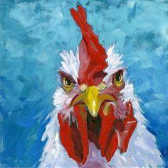 """Daily Paintworks - """"The Stare"""" - Original Fine Art for Sale - © Eileen Hennemann"""