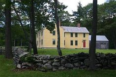 """My inspiration for the Bishop house was actually a house one of my grandfathers built in western Massachusetts around 1750. It looks almost identical to this house, which was built in the same small town at the same time. Many settlers to upstate New York came from Western Massachusetts, and they built farm houses that looked like those they grew up in."" ~ Deborah Harkness facebook"
