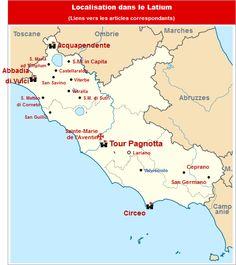Commanderies templières dans le Latium, Italie