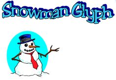 """FREE MISC. LESSON - """"Snowman Glyph With Questions"""" - Go to The Best of Teacher Entrepreneurs for this and hundreds of free lessons.  http://thebestofteacherentrepreneurs.blogspot.com/2011/11/free-misc-lesson-snowman-glyph-with.html"""