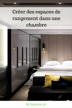 Nos quelques conseils pour créer des espaces de #rangement astucieux dans une #chambre.  #astuce Bed, Furniture, Home Decor, Murphy Bed, Tall Drawers, Night Table, Master Bedrooms, Night Stand, Decoration Home