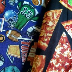Football and pizza =