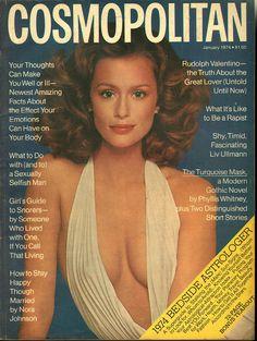 Cosmopolitan magazine, JANUARY 1974 Model: Lauren Hutton Photographer: Francesco Scavullo