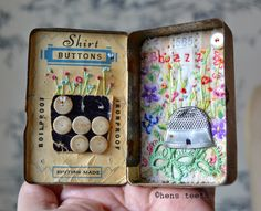 cuteness stitched...but what would you do with it? Stitched art? from hens teeth