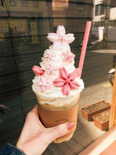 Cherry Blossom Latte in Seoul