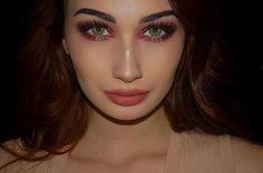 Instagram media by emilia.yates - @desioeyes Forest Green Lenses @zoevacosmetics Rodeo Belle Eyeshadow Palette & Coral Spectrum Blush Palette  @anastasiabeverlyhills Dip Brow in Ebony @maccosmetics Strobe Cream @makeuprevolution Highlight Palette @redcherrylashes 43 Lashes and @ardell_lashes Demi Wispies double stacked @gerardcosmetics Serenity Hydra Matte Lipstick  #gerardcosmetics #ardelllashes #redcherrylashes #makeuprevolution #maccosmetics #anastasiabeverlyhills #zoeva #desioeyes