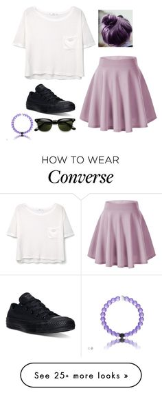 """""""Untitled #2897"""" by if-i-were-famous1 on Polyvore featuring MANGO and Converse"""