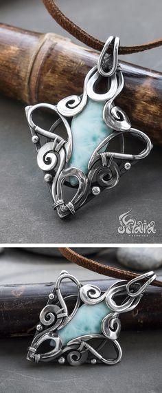 Larimar silver penda