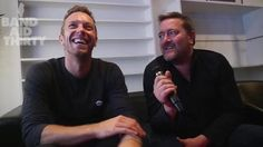 Chris & Guy Garvey (Elbow lead singer) from Band Aid 30 recording day