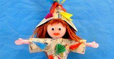 E' arrivata a scuola, accompagnata dalla nostra bidella Angelina una nuova bambina tutta di carta di nome Marta (realizzata d...