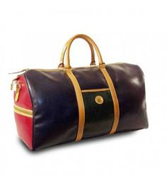 la tour eiffel luggage - Annie - Overnight Duffel Bag,$99.00 Annie Collection - Overnight Duffel Bag - navy blue, olive green, red vinyl body w/ tan leather trim.