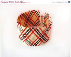 COLUMBUS SALE Beaded cuff bracelet , peyote stitch delica bracelet ,beadweaving jewelry,delica beads jewelry ,geometric jewelry