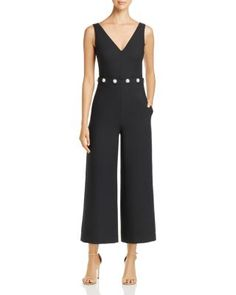 20a1945254c Tory Burch Fremont Cropped Wide Leg Jumpsuit Women - Bloomingdale s