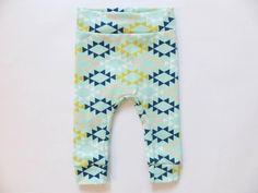 Hosen - Inca Mint Candy ∞ Bio Leggins Jersey Babyhose - ein Designerstück von vonJuLa bei DaWanda