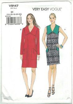 Vogue Patterns, Sewing Patterns, Cape Pattern, Dress Making Patterns, Contrast Collar, Collar Pattern, Vintage Patterns, Dressmaking, Dresses For Work