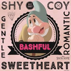 Are you shy, coy and romantic? Your inner dwarf just might be Bashful!