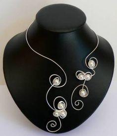 Collier argent perles http://www.azantymariage.com