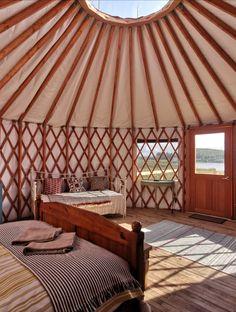 Lakeside luxury yurt glamping on the Wild Atlantic Way, Ireland