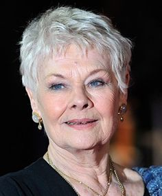 ... Short hairstyles for women, Judi dench hairstyle and Judi dench