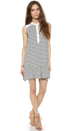 Sea Sleeveless Ruffle Dress