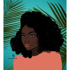 Illustrator Nicholle Kobi | Orange jungle #nichollekobi #illustrations #blackwomanart