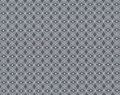 Glatter kühler Baumwolljersey LAS CONCHAS, Blütenmosaik, grau-weiß
