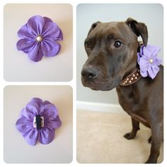 Lilac Fabric Flower (A percentage of the proceeds goes to pit bull rescues)