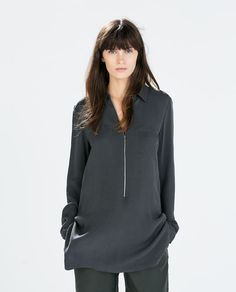 ZARA - WOMAN - ZIPPED TUNIC WITH SIDE SLITS