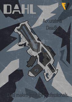 Borderlands Gun Brand Poster - Dahl by FALLENV3GAS on DeviantArt