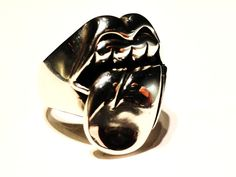 """""""Tongue"""" Ring, size 10, $72 Reminds me of Lana Del Rey... www.thesilver-lady.com"""