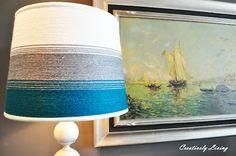 Ombré yarn lampshade