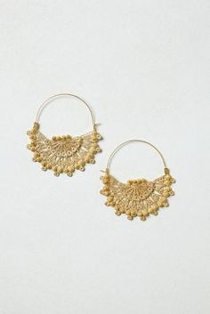 Gold-Dipped Filigree Hoops--Great idea may try this someday.