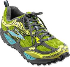 i love my Brooks for trail running; vegan and the best dang trail shoes i've ever owned. perfect stability and grip for jumping logs, straddling ditches, running creek beds, granite, gravel, you name it... these puppies can take it. i ran in my last pair for 4 years!! Like the look of these...